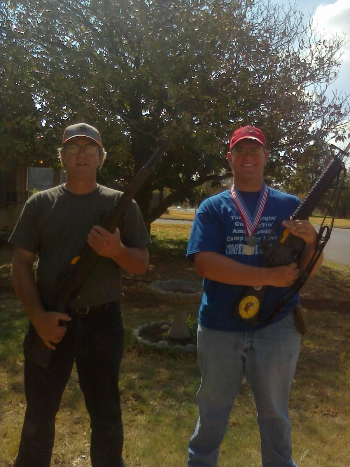 Brian & son Robert Davis National Shooting Winners
