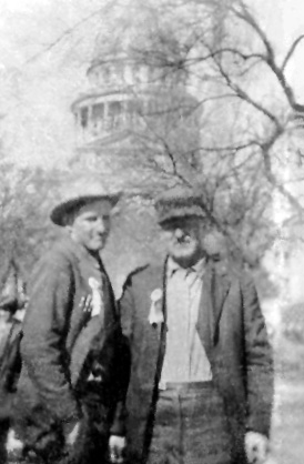 Curtis Fisher & Max Huto Fisher at State Capitol in Texas