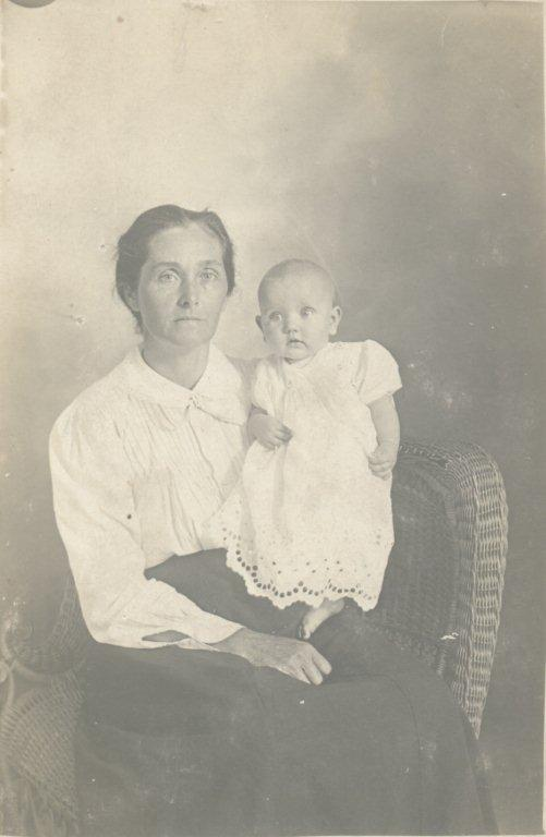Rebecca Ann (Raley) Copeland and baby Grace Copeland