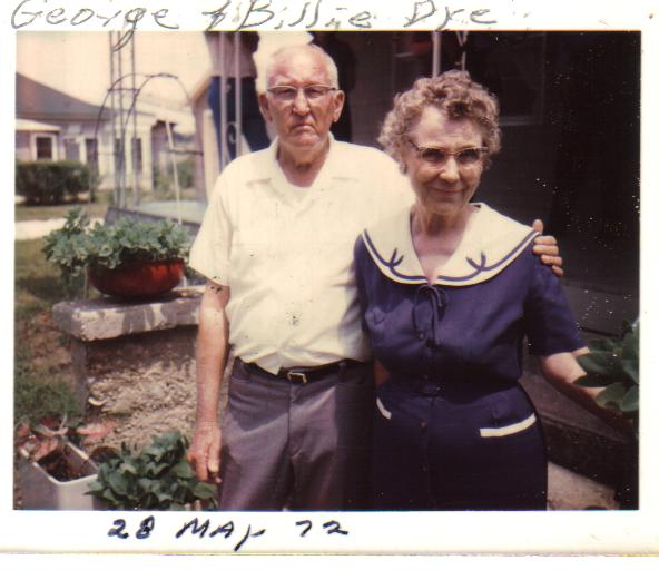 Billie & George Dye son of George Washington & Nancy Jane Dye