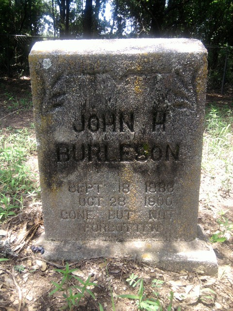 John H. Burleson son of Randolph and Della Lee Burleson