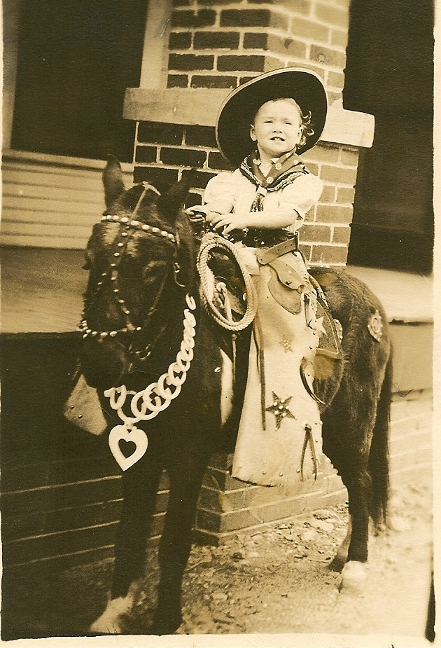 Ada Joyce on Pony in Dallas, Texas