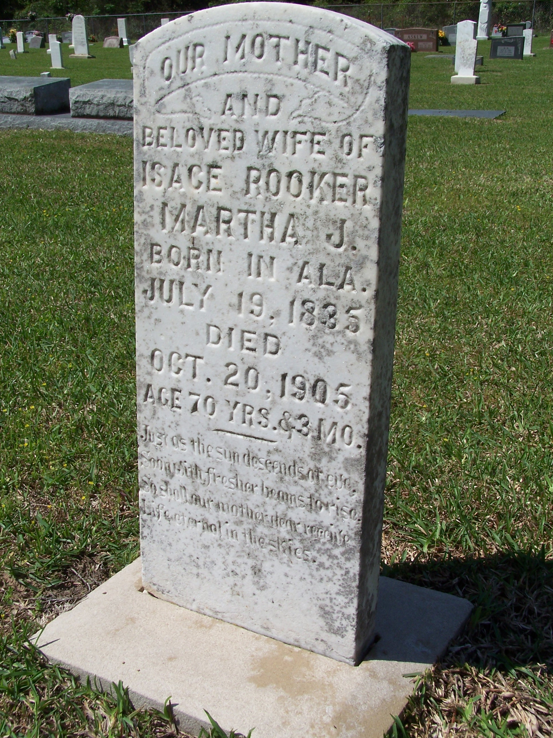 Martha J Lord Rooker, Wife of Steven Lord & Isace Rooker
