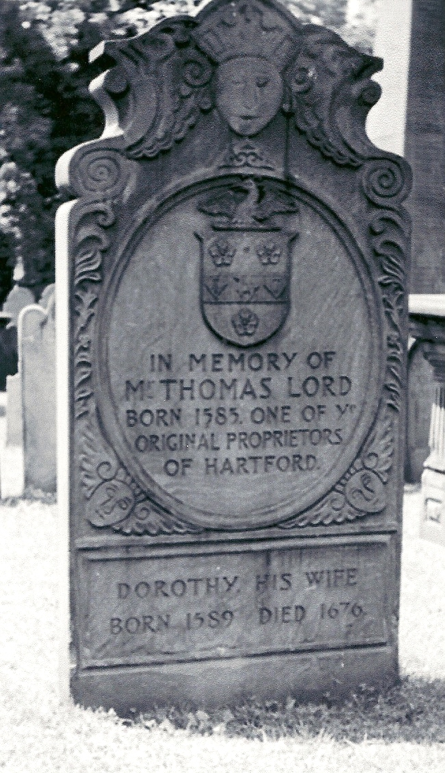 Thomas Lord born 1585 in Towcester, Northamptonshire, England died May 17, 1678 Hartford, Connecticut
