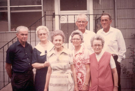 The 7 living children of John and Ada Davis in the '60s