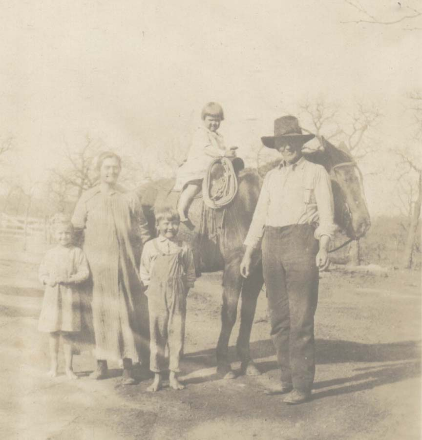 John W. Copeland & wife Rebecca Ann and Children