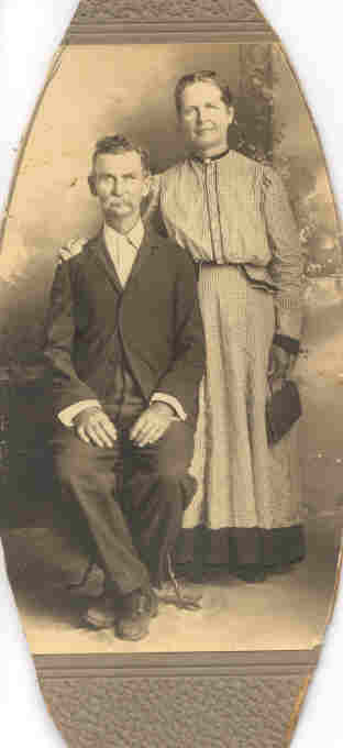 "Parents of Ada Lee Burleson Davis Nathinal  ""Nat"" Burleson & Emily Jane (Carley) Burleson"